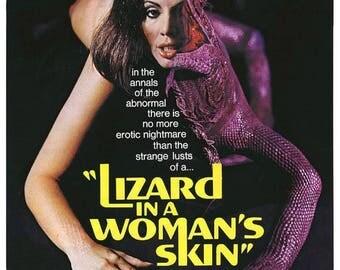 Summer Sale LIZARD In A WOMANS Skin Movie Poster Rare Horror
