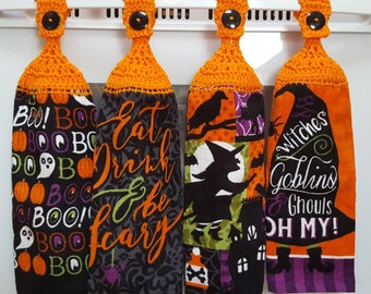 Halloween towels | Etsy