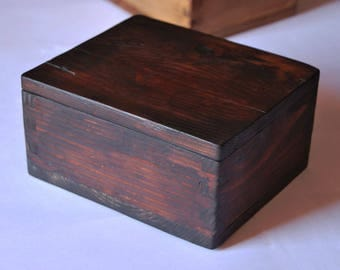 Solid pine wood jewelry box