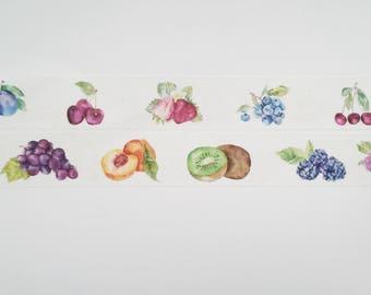Design Washi tape fruit fruit berries summer masking tape
