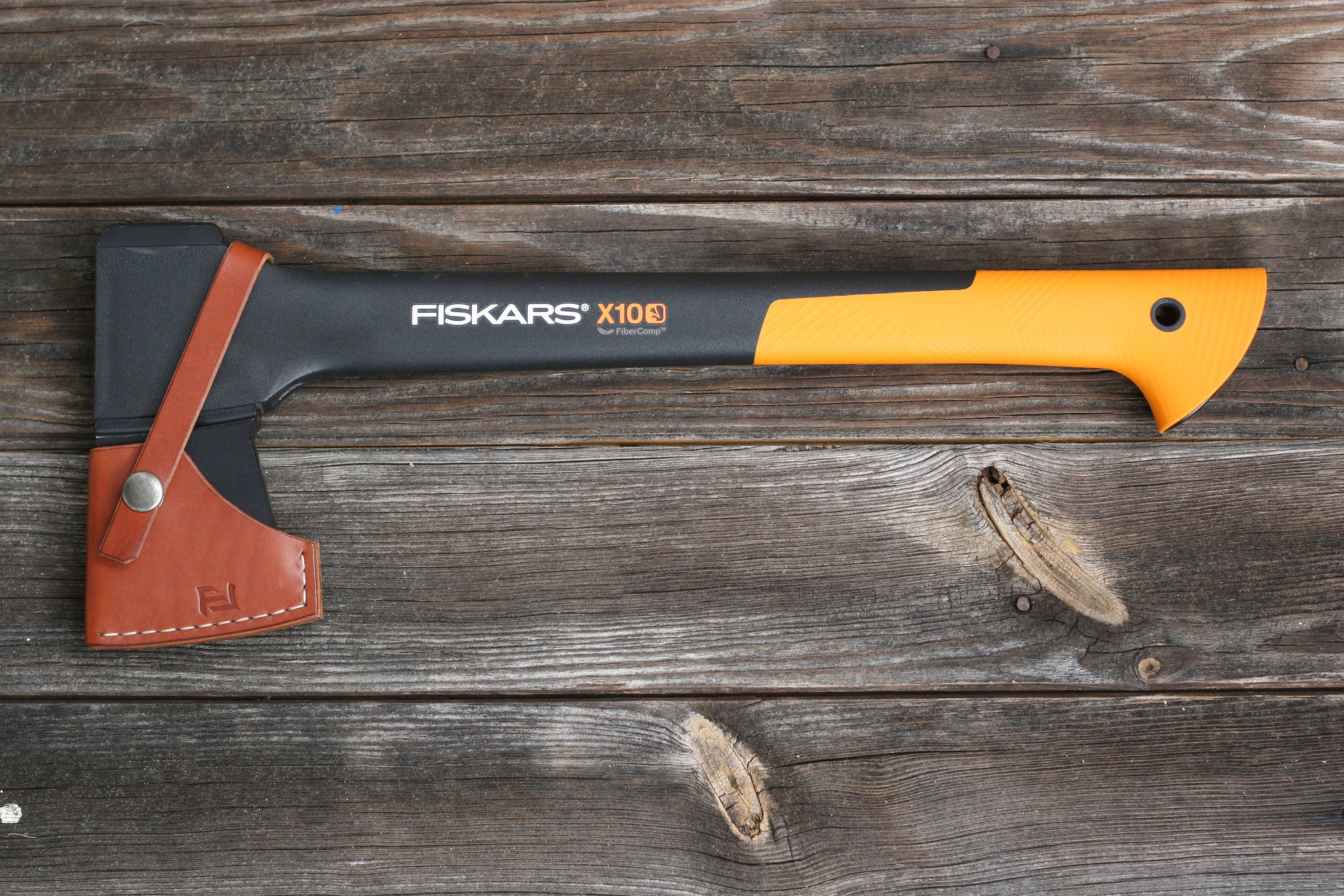 fiskars chopping axe x10 leather sheath from petkoleathers on etsy studio. Black Bedroom Furniture Sets. Home Design Ideas