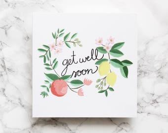 Get Well Soon Card - Sympathy Card - Thinking Of You Card - Luxury Get Well Soon Card