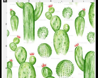 Water Color Cactuses, nursery, fitted sheet , changing mat cover, bumpers,skirt, rail guard, blanket, desert, cacti, plants, succulent,green