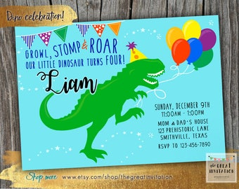 Dinosaur invitations etsy dinosaur invitation dino birthday invite dino invitation birthday invitation dinosaur birthday party solutioingenieria Images