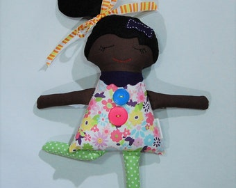Handmade doll, cloth doll, Darling Big Sister Doll, girl doll, dark skin doll