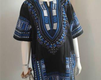 Blue/Black Dashiki