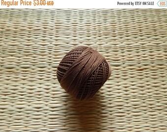 10% OFF Brown Crochet Yarn, Mercerized Cotton Yarn, Knitting Yarn, Embroidery Yarn, Cotton Crochet Yarn - 120 Yards