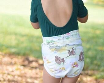 Safari bummies shorts baby clothes toddler shorts bloomers