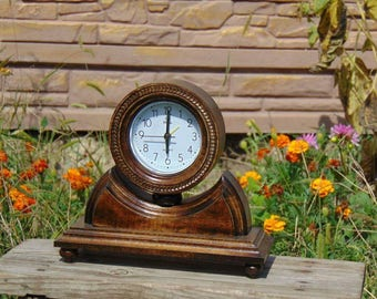 Wood clock Wooden clock Wood watch Mantel clock Table clock chiming clock Office hours Alarm clock desk clock