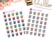 Laundry Day Planner Stickers for use in ERIN CONDREN LIFEPLANNER ™, Happy Planner, Tn, Midori,