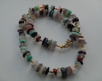 Multi Gemstone Necklace, Multi Colour