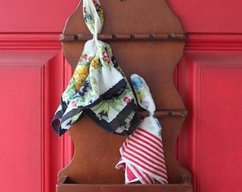 Vintage Wooden Spoon or Handkerchief Display Shelf-Holder-Wall Hanging