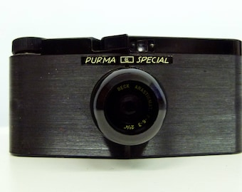 Vintage Purma Special - 127 Film Camera - 1930s - British Made - Art Deco Camera - With Lots Of Extras