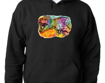 HOODIE Dinosaur Pop Art Hoodie T-Rex Dinosaur Sweatshirt