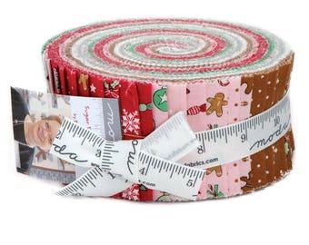 """Moda SUGAR PLUM Jelly Roll 2910JR 40 2.5"""" Fabric Strips By Bunny Hill Designs"""