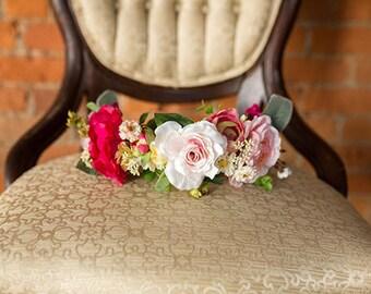 Floral Crown | Full Pastel Floral Crown