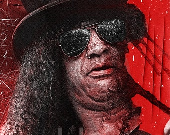 Slash, Guns N' Roses, print, poster