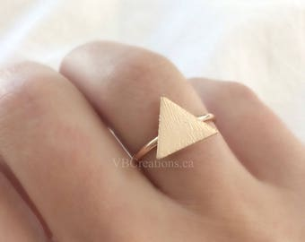 Triangle Ring - One Direction - Arrow Jewelry - Triangle Jewelry - Silver Ring - Gold - Minimalist Jewelry - Dainty Jewelry - Gift for her