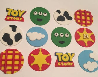 12 Toy Story inspired themed cupcake toppers