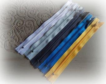 5 zippers mixed 20 cm set 12 colors