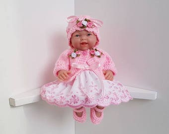 Dolls Clothes Set made for 9.5 inch BERENGUER Mini La Newborn / Reborn or similar