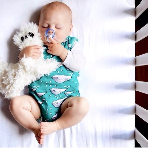 Toddler Harem Romper Whale Print Shortie Baby Playsuit Toddler Romper Baby Girl Playsuit Baby Boy Playsuit Summer Baby Outfit Organic Romper