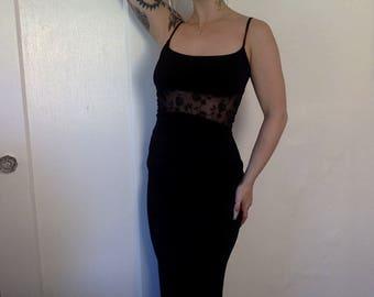90s BEBE OPERA Floor Length Dress