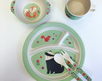 Woodland Creatures Kids Dining Set
