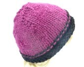 Reversible magenta hat for women large size cap for ladies acrylic head accessories gift under 25