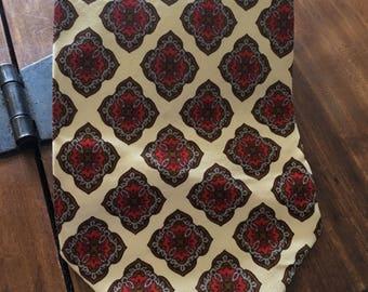Vintage Michelsons Tie - kipper tie - silk tie
