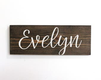 Woodland Nursery Decor Name, Personalized Wall Decor For Girls, Nursery Sign Name, Baby Name  Sign Rustic, Wooden Baby Name Sign