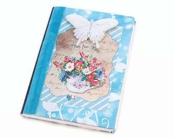 Mini Journal, Small Journal, Floral , Tea Party, Writing Notebook, Pocket Journal, Password Notebook, Dream, Meditation, Travel