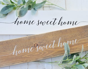 Home Sweet Home, Wood Sign, Rustic, Farmhouse, Home Decor, Home and Living, Framed