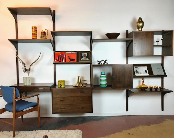 A Must Have Mid Century Modern Modular Four Bay Shelving System Poul Cadovius Cado Style