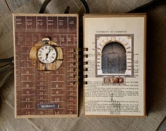 "Junk Journal ""Mechanical Illusions"" Handmade Journal Memory Journal Spiral Journal"