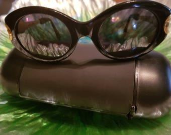 Ventura Magic Sunglasses ~ vintage 90's black and gold ~ new old stock