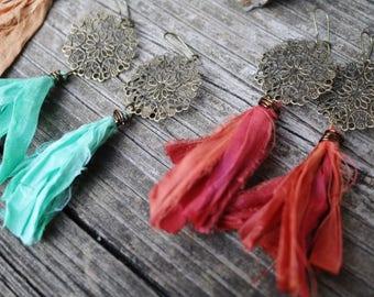 Bohemian Earrings - Boho Jewelry - Drop Earrings - Gypsy Earrings - Ethnic Earrings - Statement Earrings - Boho Earrings - Dangle Earrings