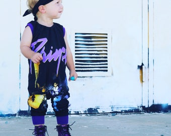 Purple Rain, baby rompers, handmade baby clothes, baby bodysuit, custom baby clothes, trendy toddler clothes, rock music
