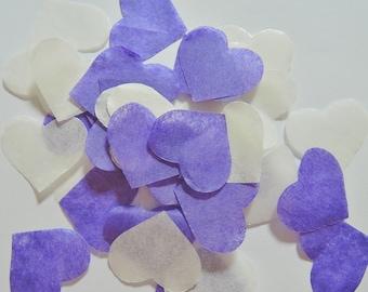 Purple ivory heart confetti Task No - 25 handles (handmade)