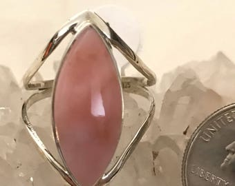 Pink Opal Ring, Size 11