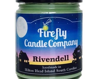 Rivendell Soy Candle- Lord of the Rings Candle- The Hobbit Candle- Book candle- movie candle 8oz