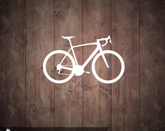 Road Bike Vinyl Decal Sticker - Cycling Decal - Cyclist