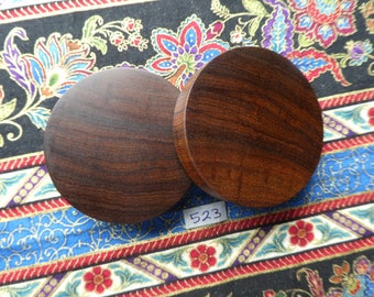 49mm Handmade Wooden African Mopane Ear Plugs Pair - Easy Care ( Overall size 50.2mm )