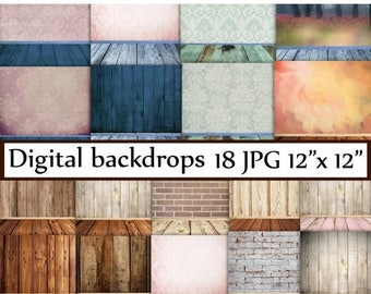 "40%SALE Wood Digital Backdrop: ""DIGITAL BACKDROP"" Digital background Shabby Chic wood Photo backdrop Newborn Backdrop Wood backround backdro"