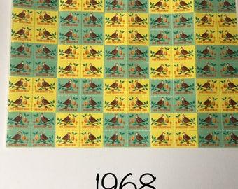 Vintage Christmas Seals   Vintage Paper Ephemera   1968- 1972