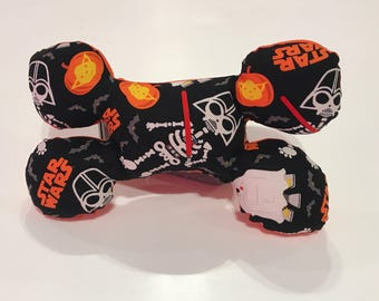 Star Wars Halloween Print Bone Shaped Squeak Dog Toy
