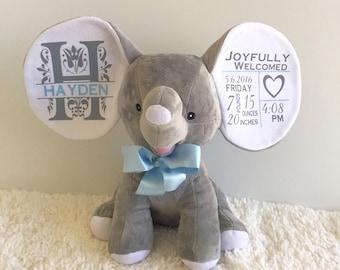 "Personalized ""Cubbies"" Stuffed Elephant"