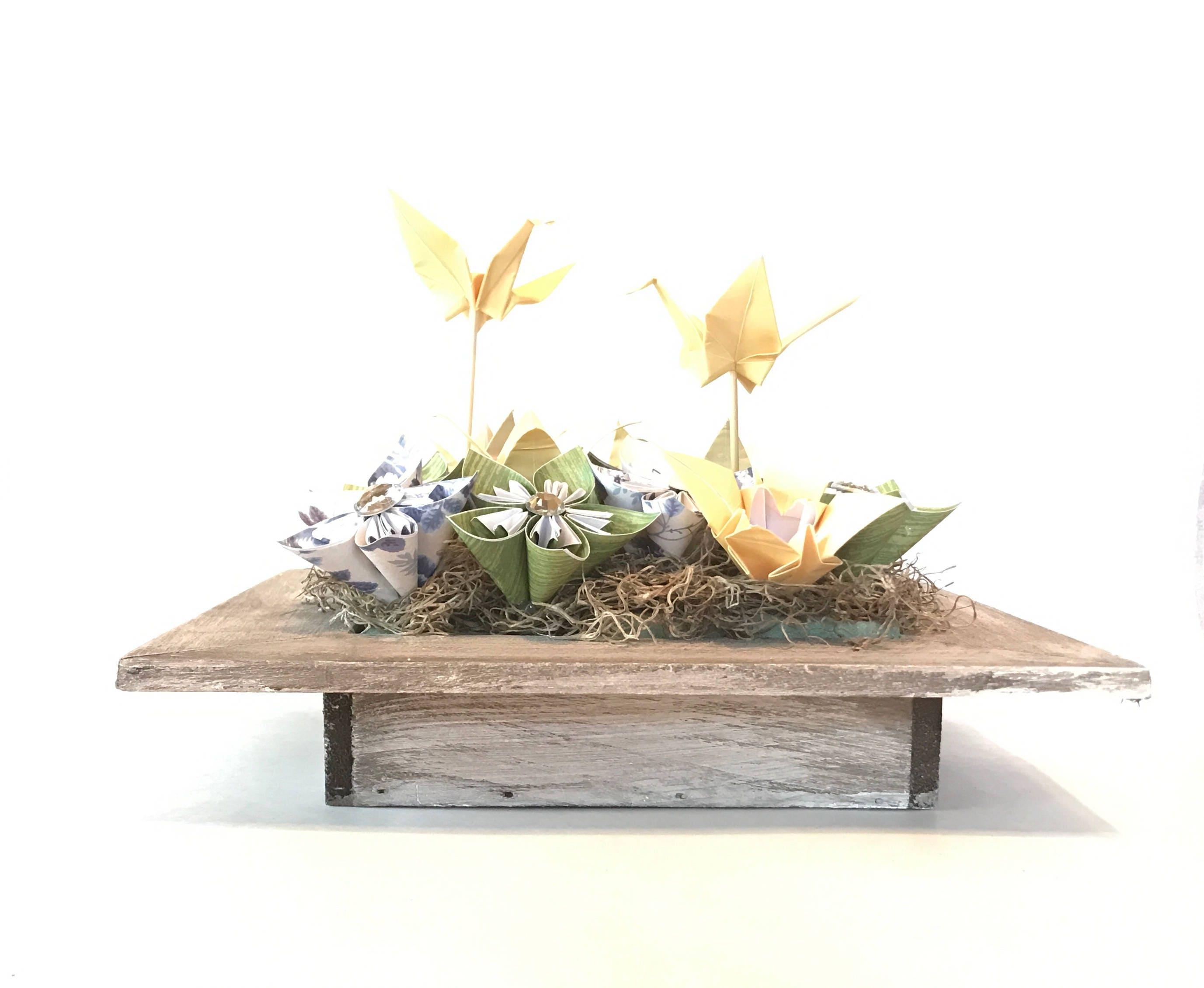 Centerpiece, origami crane, origami centerpiece, wedding centerpiece ...