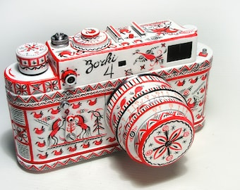 Zorki-4 Russian RF camera. New design. Stylized as Mezen. Hand made. EX!