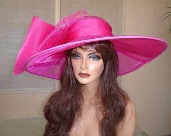 Hot pink Kentucky Derby hat